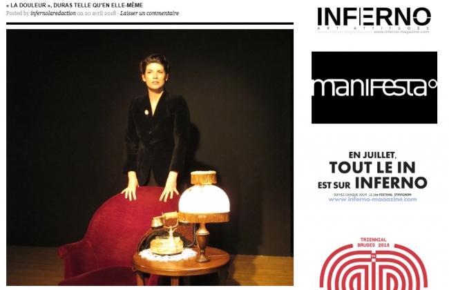 TMD, Duras, La douleur, Maud Andrieux, Duras telle qu'en elle-même, Théâtre Marguerite Duras Itinérant,