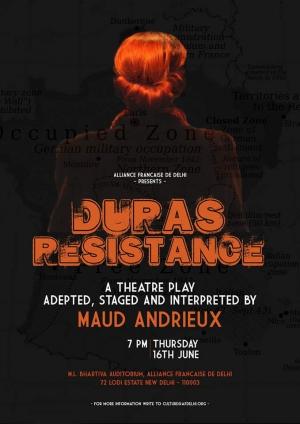 Maud Andrieux, La douleur, Duras Résistante, Marguerite Duras, Théâtre Marguerite Duras, TMD